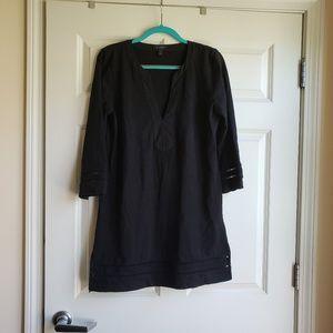 J. Crew Solid Black Tunic